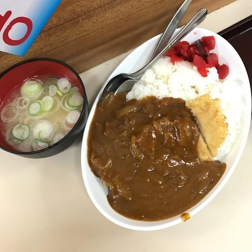 「カツカレー(みそ汁付き)」@君塚の写真