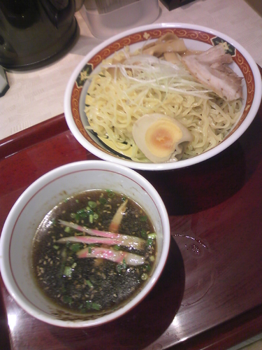 「つけ麵550円」@中華食堂 一番館 渋谷桜丘町店の写真