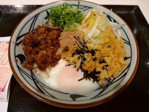 「旨辛まぜ釜玉(並盛)530円」@丸亀製麺 イーサイト高崎店の写真