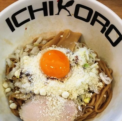「鶏玉チーズまぜそば」@鶏蕎麦十番156 -ICHIKORO- イーアスつくば店の写真