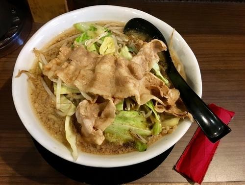 「男の根性黒醤油」@男のラーメン 麺屋わっしょいの写真
