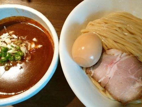 「半熟味玉サバカレーつけ麺(中盛)」@つけ麺 一燈の写真