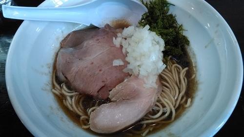 「煮干濃麺HV+和え玉」@濃麺 海月の写真