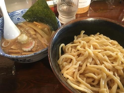 「つけ麺(並盛り、縮れ麺)+クーポンメンマ」@つけ麺 紅葉の写真