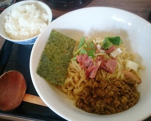 「限定 鴨カレー油そば」@麺屋 葵の写真