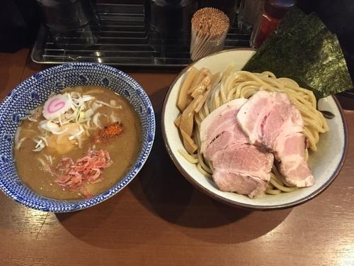 「特製海老つけ麺 味噌(1050円)」@俺の麺 春道の写真