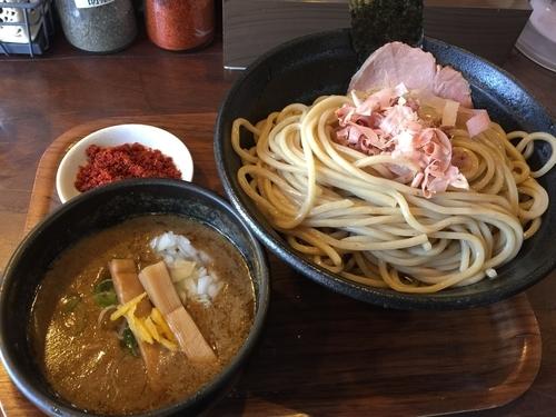 「つけ麺(大盛)+ 特製辛味」@麺屋きころく 成増店の写真