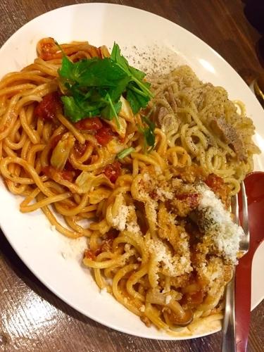 「【アキラ式パスタ祭り2日目】三食盛SPL ¥880」@ラーメンアキラの写真
