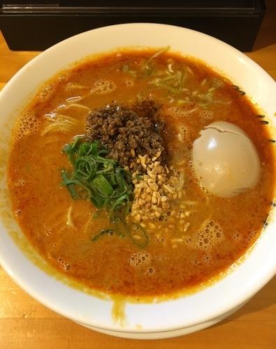 「替え玉¥150&エビス小瓶¥400からの,担担麺¥850」@麺庵ちとせの写真