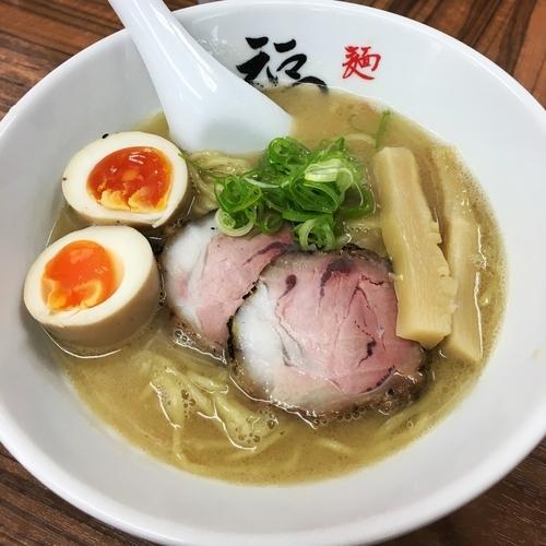 「二代目福座ラーメン+煮玉子」@麺や 福座の写真