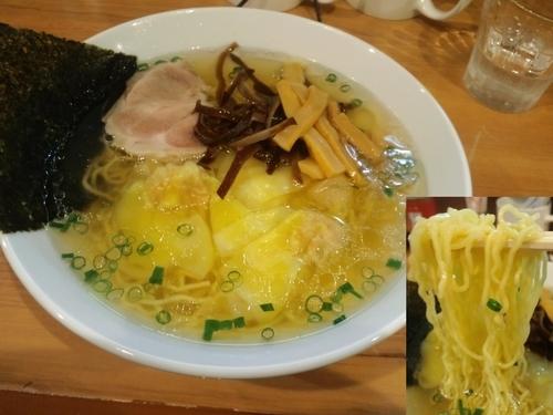「海老ワンタン麺880円替え玉ハーフ100円」@MEN-YA DAISUKEの写真