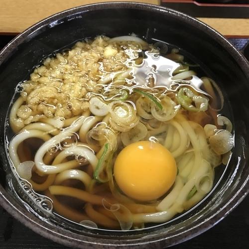 「かけ(¥320)+生玉子(クーポン)」@ゆで太郎 南大井店の写真