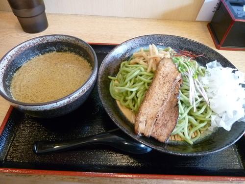 「グリーンカレーつけ麺」@らーめん仙代の写真