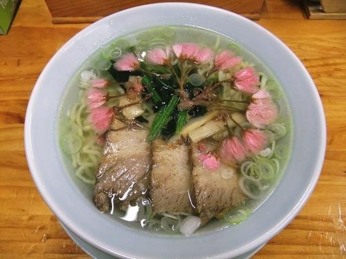 「【季節限定】さくら塩ラーメン(730円)」@麺や髭おやじの写真