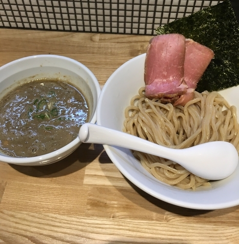 「濃厚煮干しつけ麺(麺少な目¥800)」@らーめん 改の写真