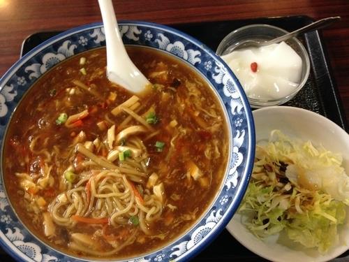 「サンラー麺(ランチメニュー)」@上海料理・四川料理 厨藝坊の写真
