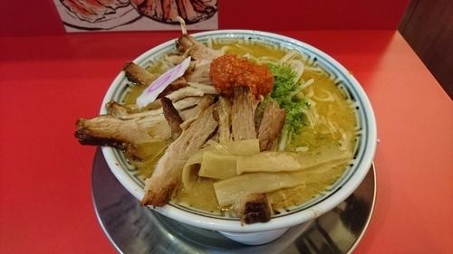 「からし味噌ちゃーしゅうめん+ちゃーしゅう飯」@ちゃーしゅうや武蔵 イオンモール日の出店の写真