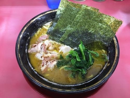 「ラーメン(麺固め、脂多め)」@はじめ家の写真