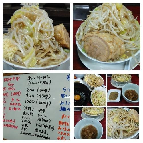 「がっつりらーめん450G(野菜、アブラ)+煮干し粉」@博多長浜らーめん 楓神の写真