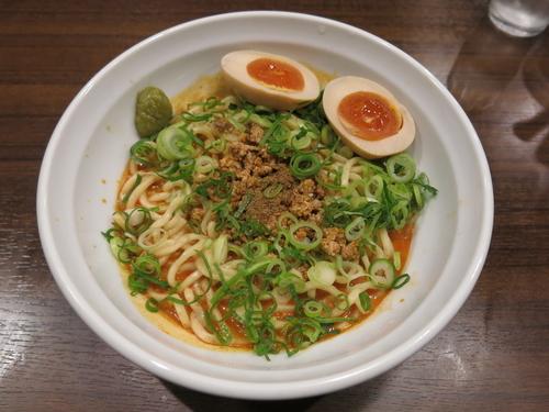 「汁なし担々麺(辛口):780円」@尾道らーめん めでたい屋の写真