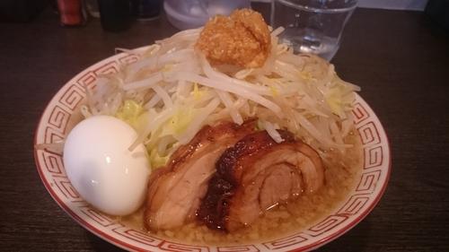 「魚郎ラーメン(700円)野菜多め+ニンニク」@三代目らーめん浜田家の写真