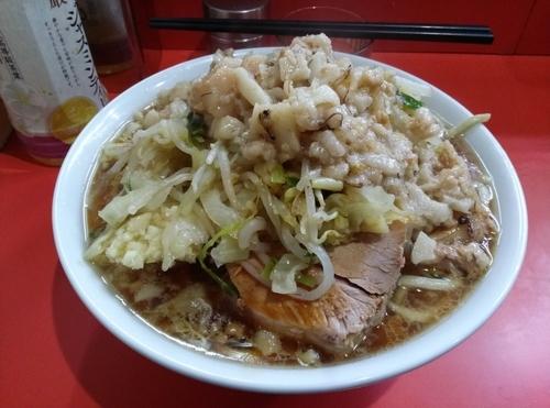 「小ラーメン野菜ニンニク脂カラメ」@ラーメン二郎 仙川店の写真