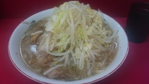 「小ラーメン(730円)野菜・ニンニク」@ラーメン二郎 京急川崎店の写真