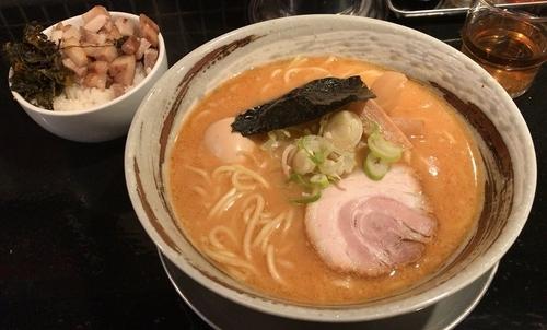 「味噌ラーメン+味玉+ごはんバイキング(ランチタイム限定)」@かいらぎ 二代目の写真