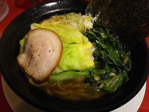 「豚骨醤油 (麺大盛)」@横浜家系ラーメン 喬の写真