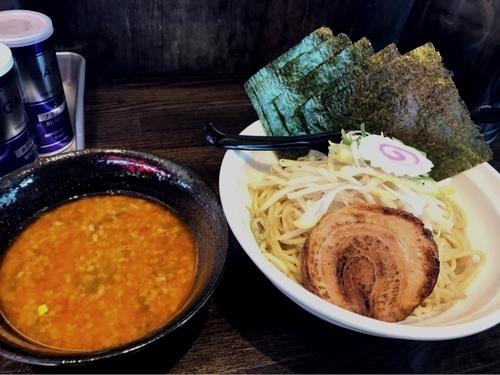 「辛つけ麺」@東京豚骨 男麺の写真