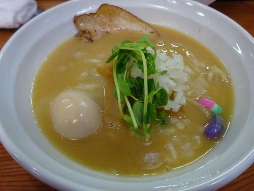 「濃厚 味玉鶏白湯麺 (味噌) 900円」@麺匠 なか巌の写真