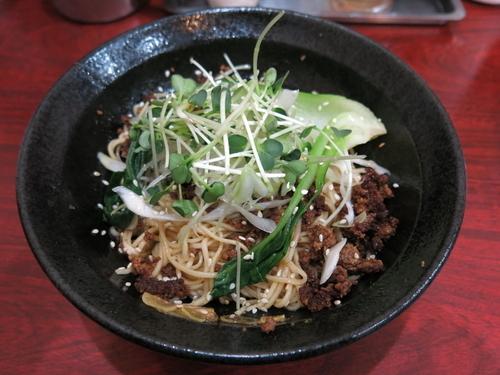 「汁なし担々麺:580円」@四川屋台の写真