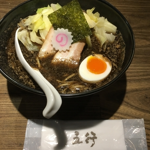 「焦がし味噌麺」@西麻布 五行の写真