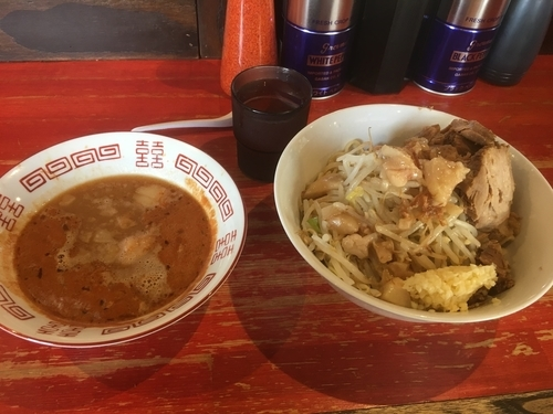 「エビつけ麺 豚増し」@ラーメン二郎 会津若松駅前店の写真