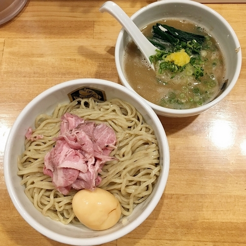「味玉濃厚真鯛つけ麺  ¥950」@真鯛らーめん 麺魚の写真