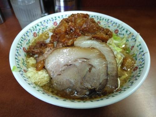 「つけ味 麺少なめ」@ラーメン二郎 めじろ台法政大学前店の写真