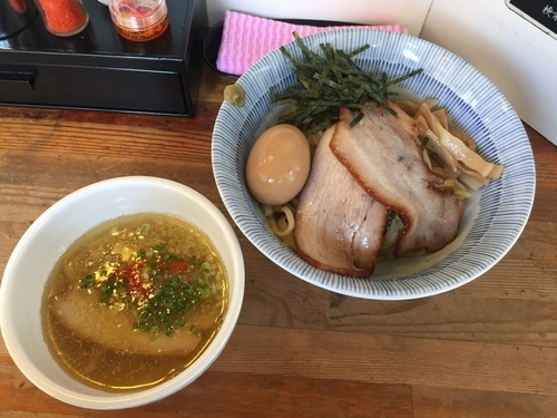 「特製淡麗塩つけ麺(1000円)」@塩つけ麺 灯花の写真