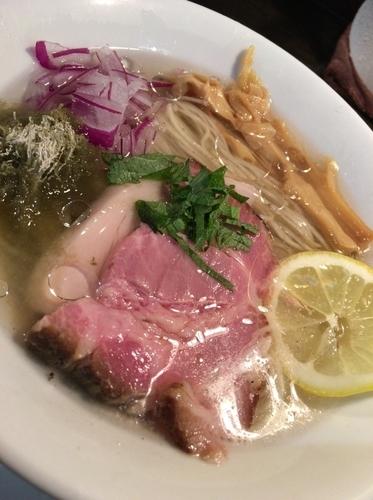 「【限定】太刀魚煮干しの冷やしらぁめん 880円」@KaneKitchen Noodlesの写真