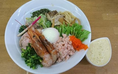 「【皐月の一杯】紅ズワイ&赤海老 和えそば C」@MENYA 食い味の道有楽の写真