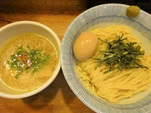 「淡麗塩つけ麺 800円 + 半熟味玉 (VIPカード利用)」@塩つけ麺 灯花の写真