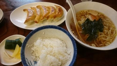 「半ラーメン、小ライス、餃子」@赤城ラーメンの写真