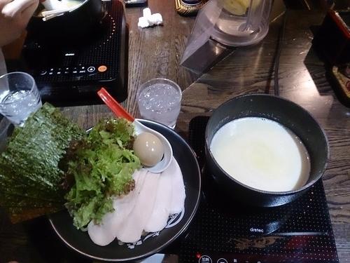 「濃厚鶏白湯つけ麺(塩) +味玉」@麺屋 時茂 西川口店の写真