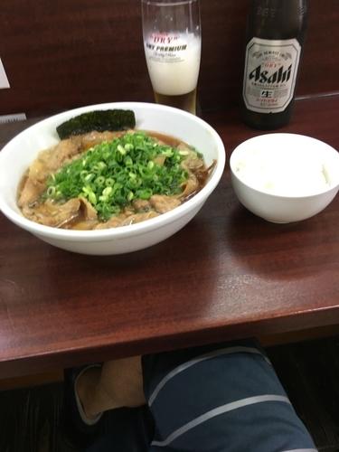 「肉そば ライス付き  醤油 850円」@麺屋 民のかまどの写真