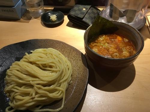 「辛味ダブルつけ麺 ニンニク」@つけ麺屋 やすべえ 西池袋店の写真