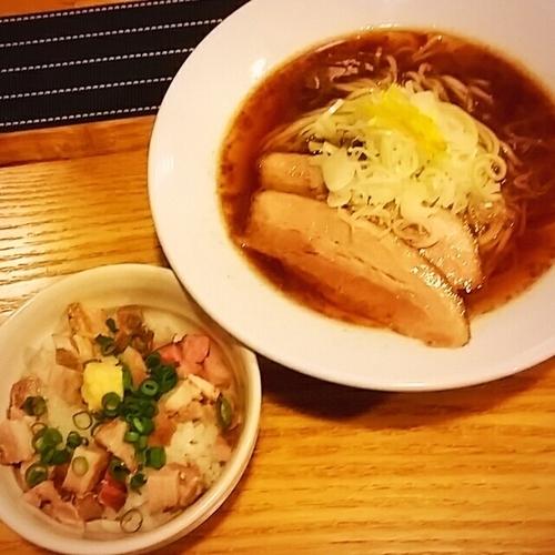 「【限定】六種魚介の冷や汁そば~ぶっかけ用ごはん付~900円」@中華蕎麦 はざまの写真