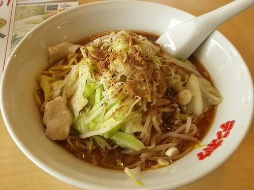「【城南店限定】魚介とんこつ醤油ラーメン (麺大盛り)」@テンホウ 諏訪 城南店の写真