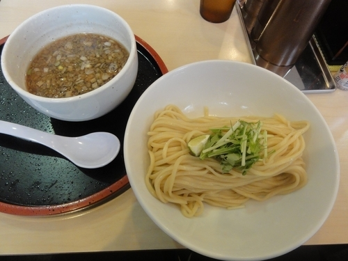 「鶏もつつけ麺(並)」@清麺屋の写真