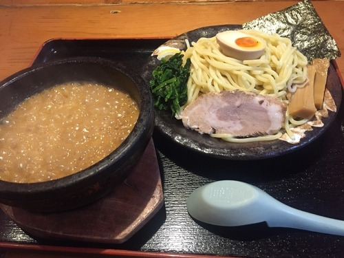 「濃厚豚骨伊勢海老つけ麺(大盛)¥840」@竹本商店★つけ麺開拓舎の写真