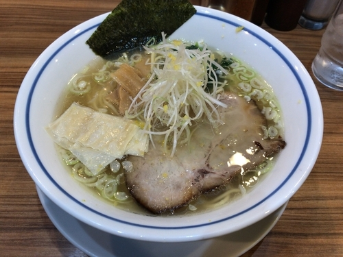 「柚子塩ラー麺」@麺屋 楼蘭 梅田店の写真