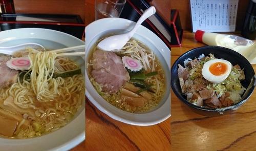 「『塩ラーメン(細麺)+チャーシュー丼(¥600+250)』」@らーめん処 こたにの写真